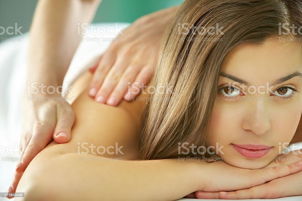 Receiving massage royalty-free stock photo