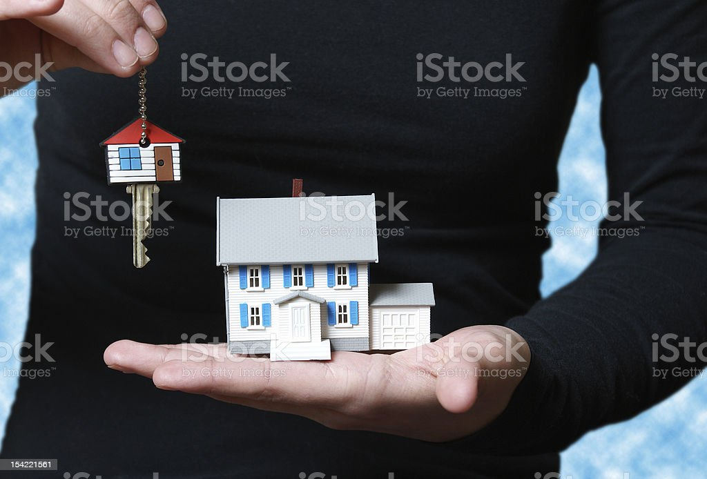 Receiving the Key royalty-free stock photo