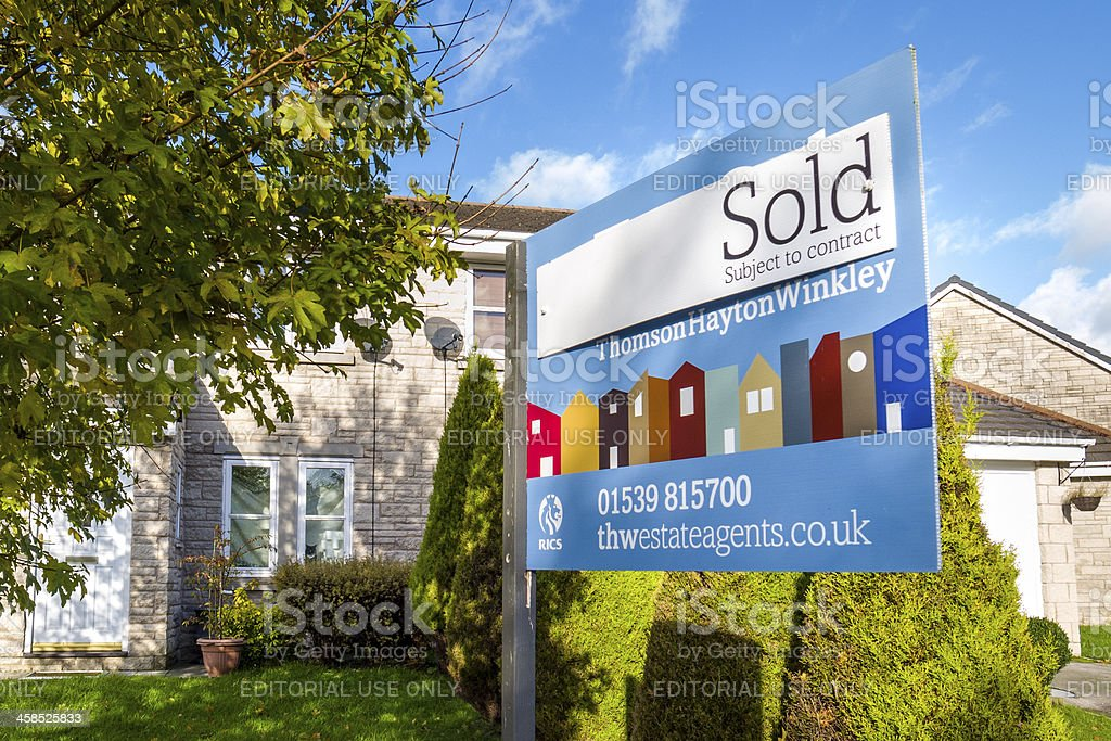 Recently sold semi-detached property stock photo