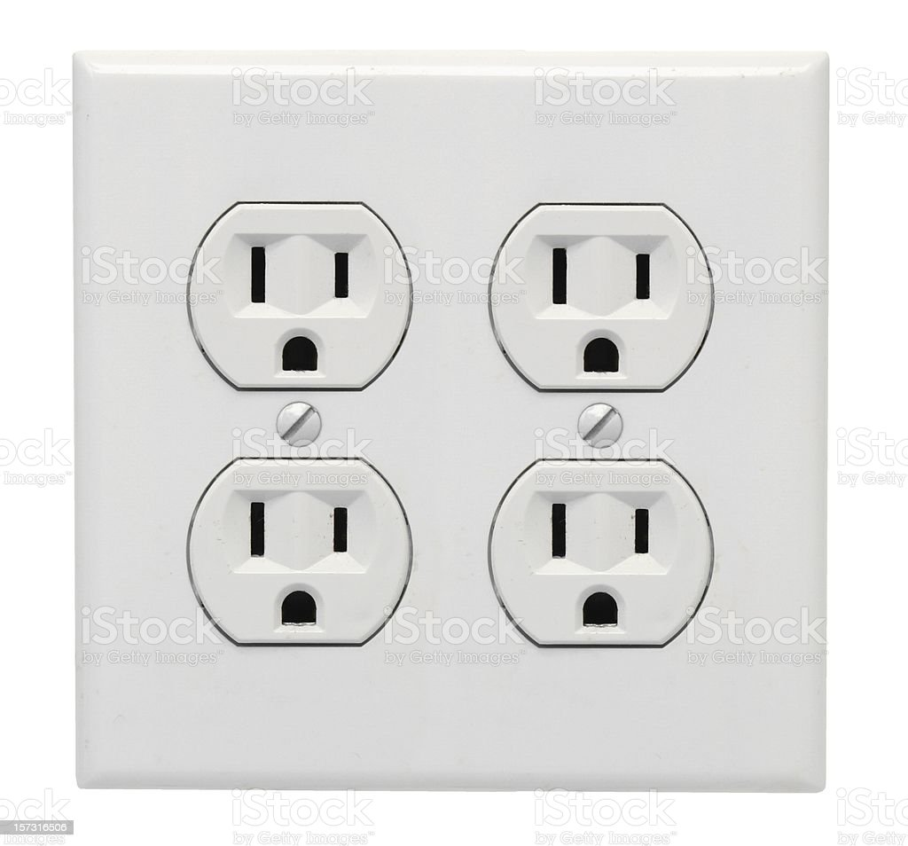 Receptacle - Double royalty-free stock photo