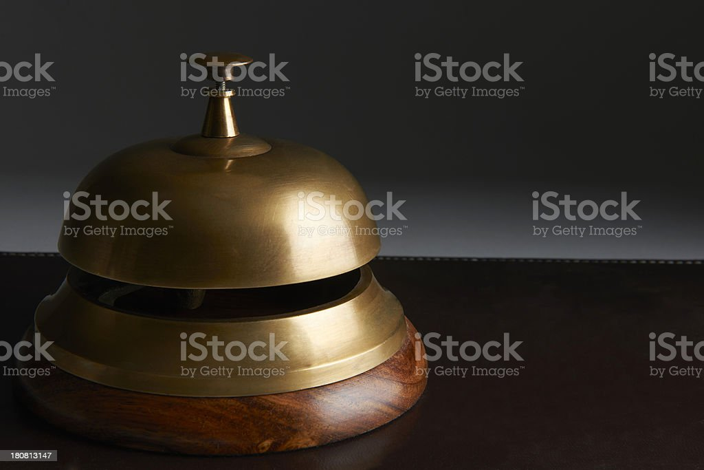 Reception Bell On Dark Background royalty-free stock photo