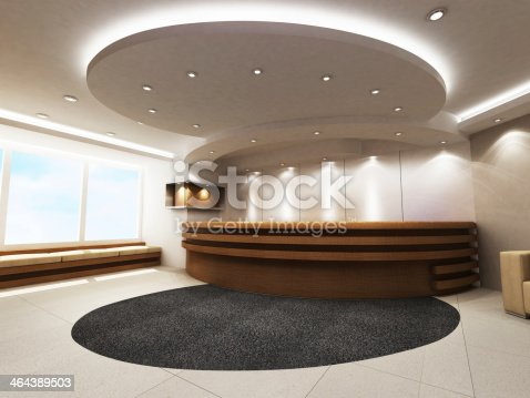 908258590 istock photo Reception Counter 464389503