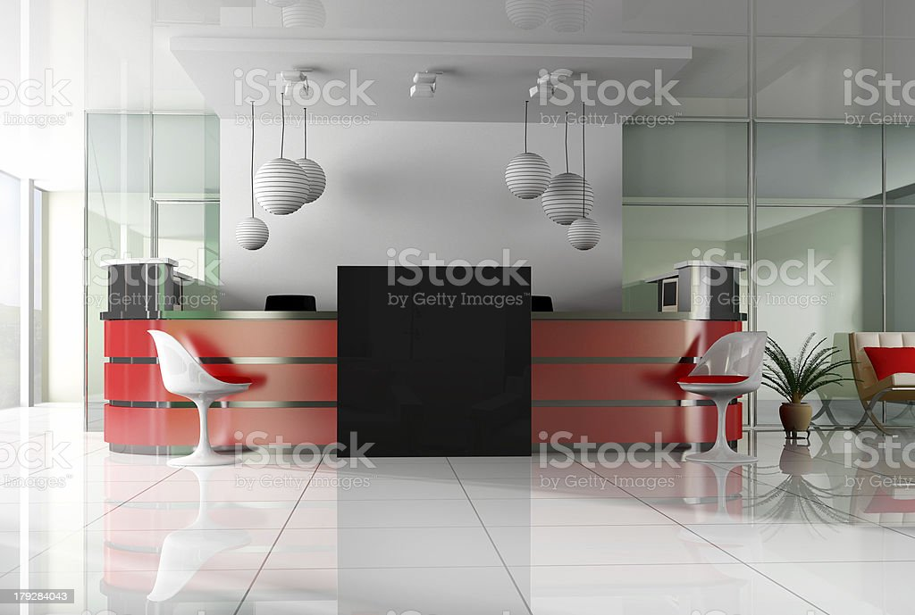 Reception in is cared hotels royalty-free stock photo