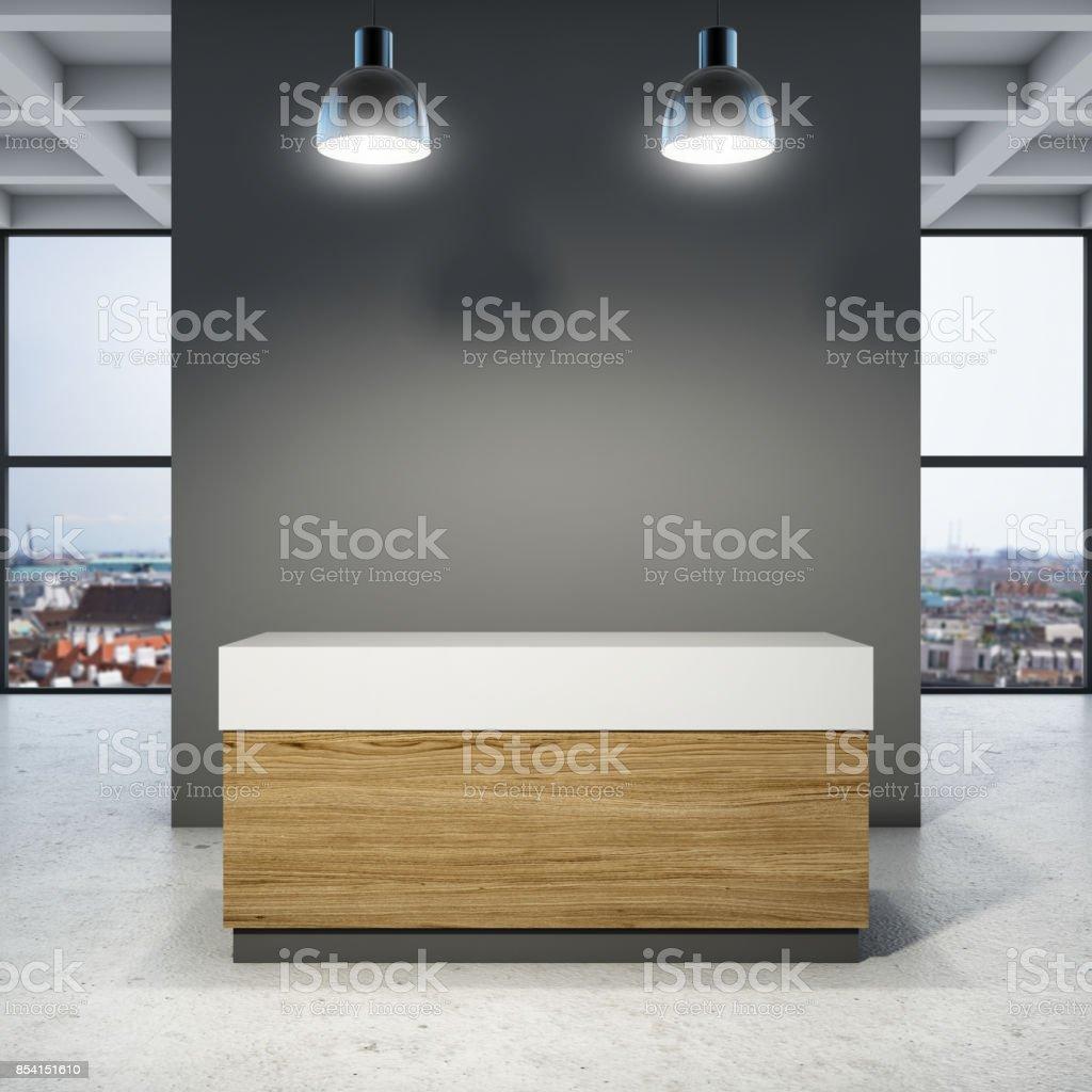 Novo escritório de recepção - foto de acervo
