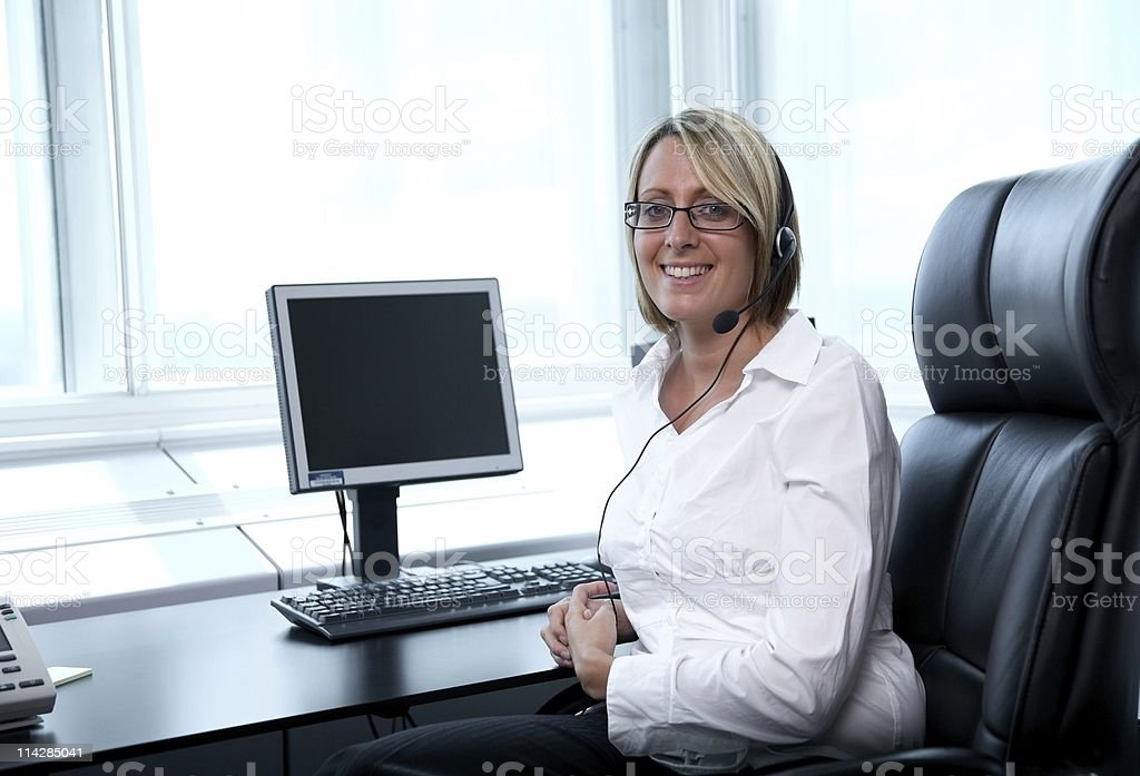 Receptionist... royalty-free stock photo