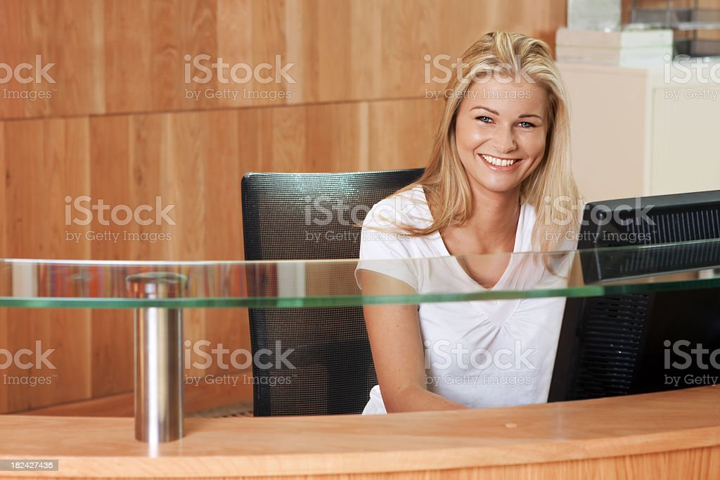 Receptionist stock photo