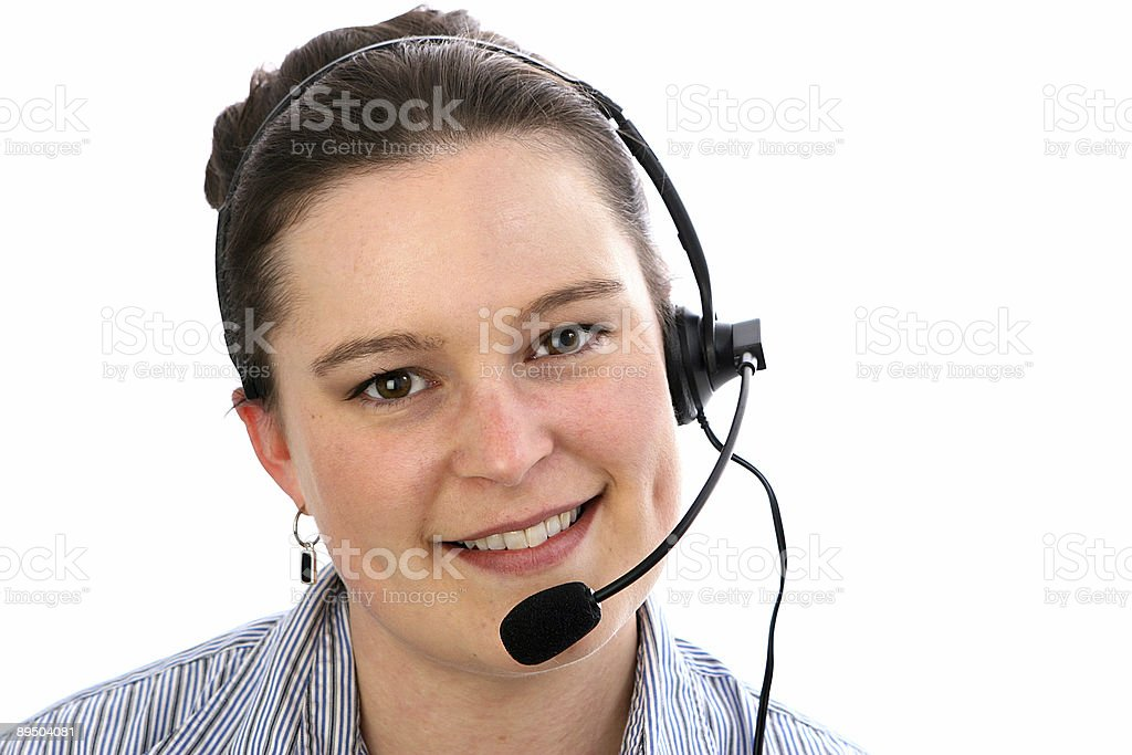 Receptionist foto stock royalty-free