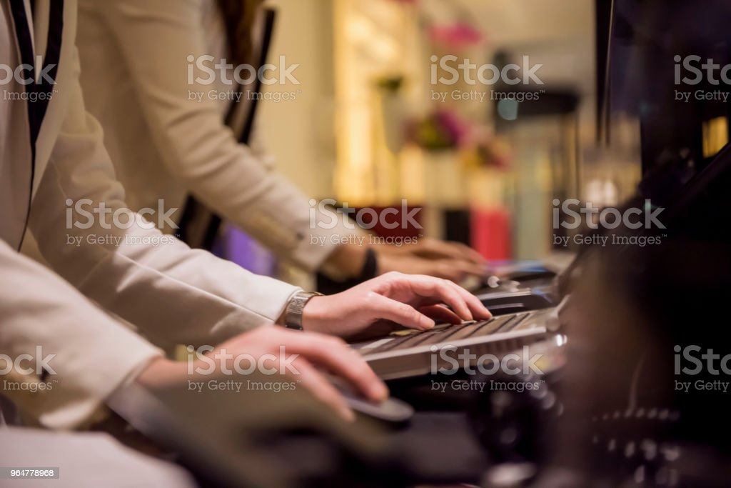 Receptionists at the hotel royalty-free stock photo