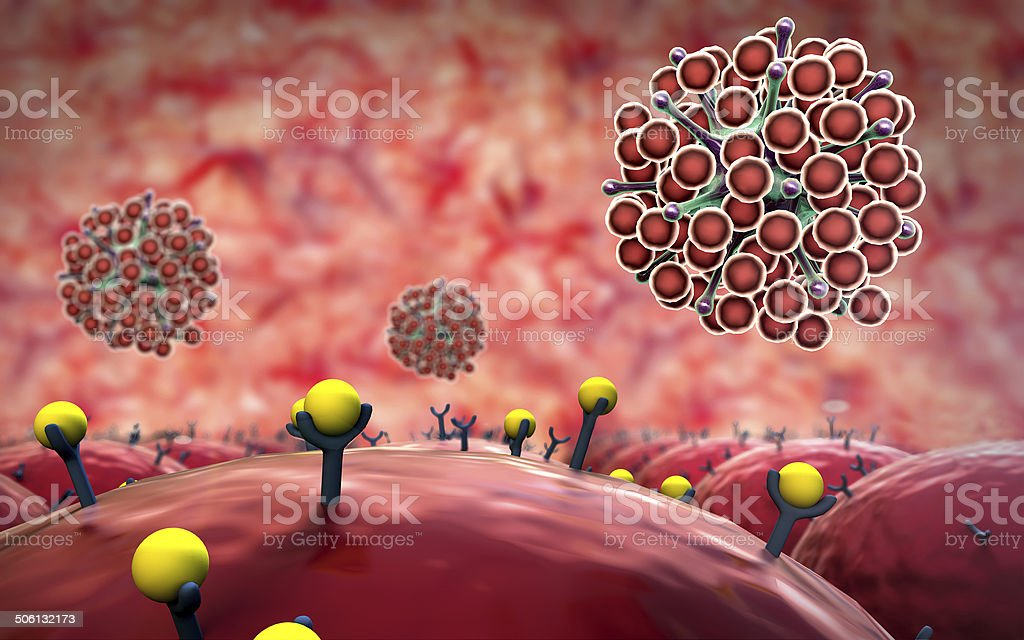 receptors, virus stock photo
