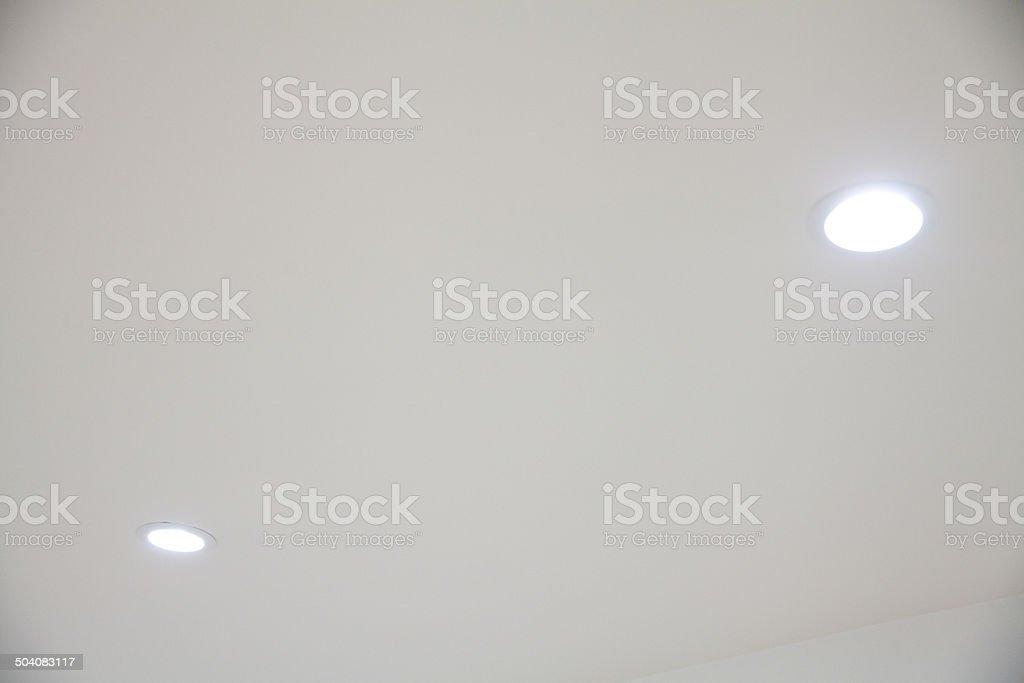 LED recessed lighting stock photo