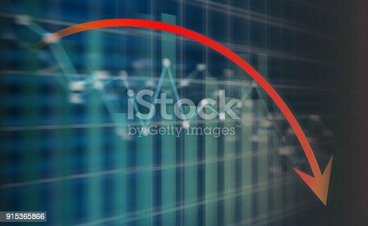 istock Recession arrow on led screen 915365866