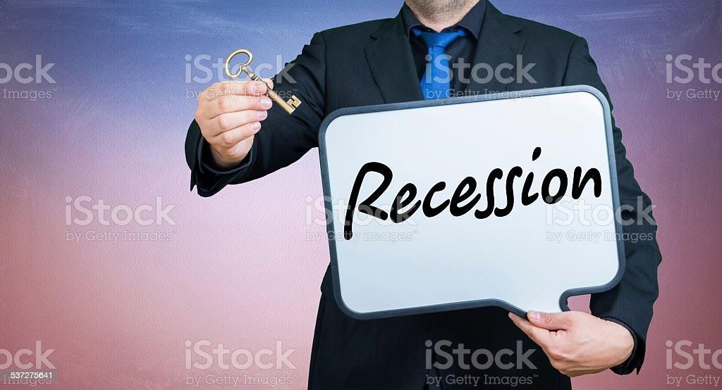 recession businessman stock photo