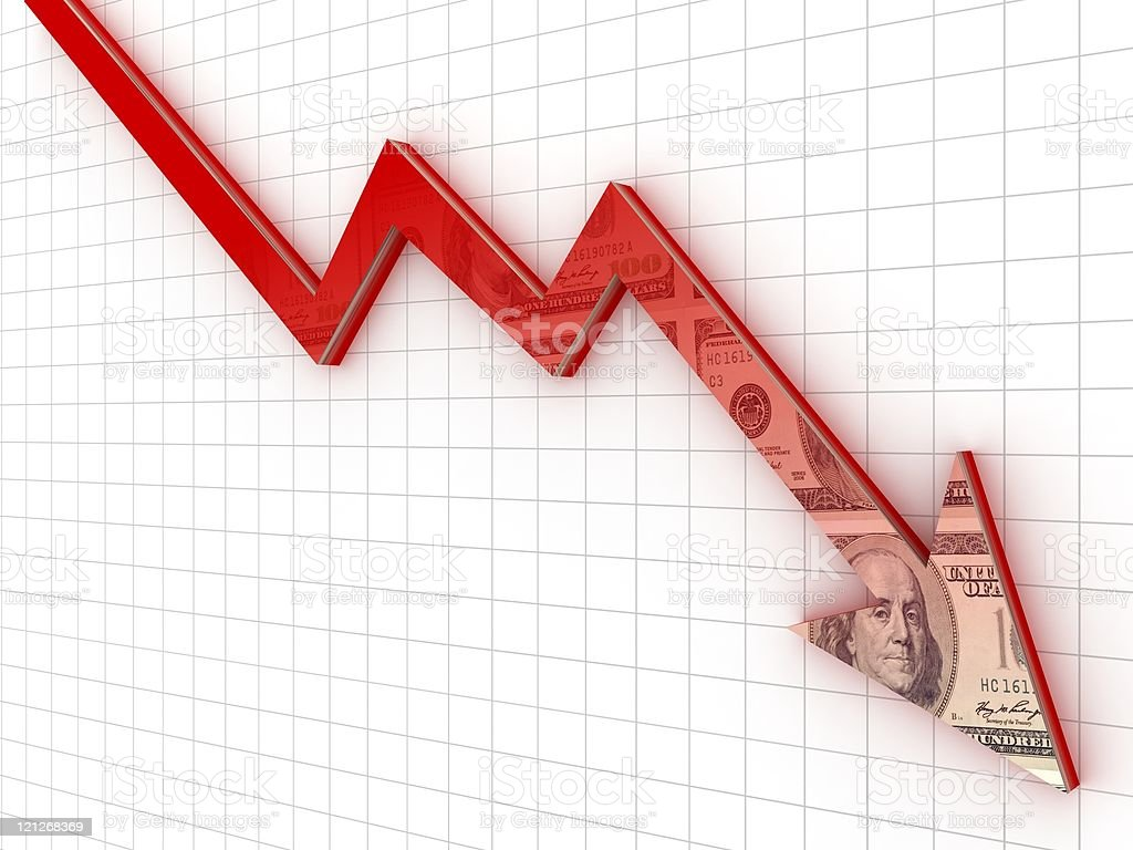 Recession Chart stock photo