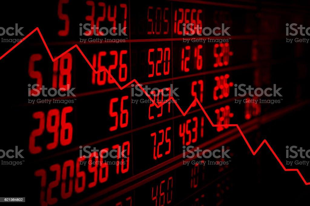 Recession concept stock photo