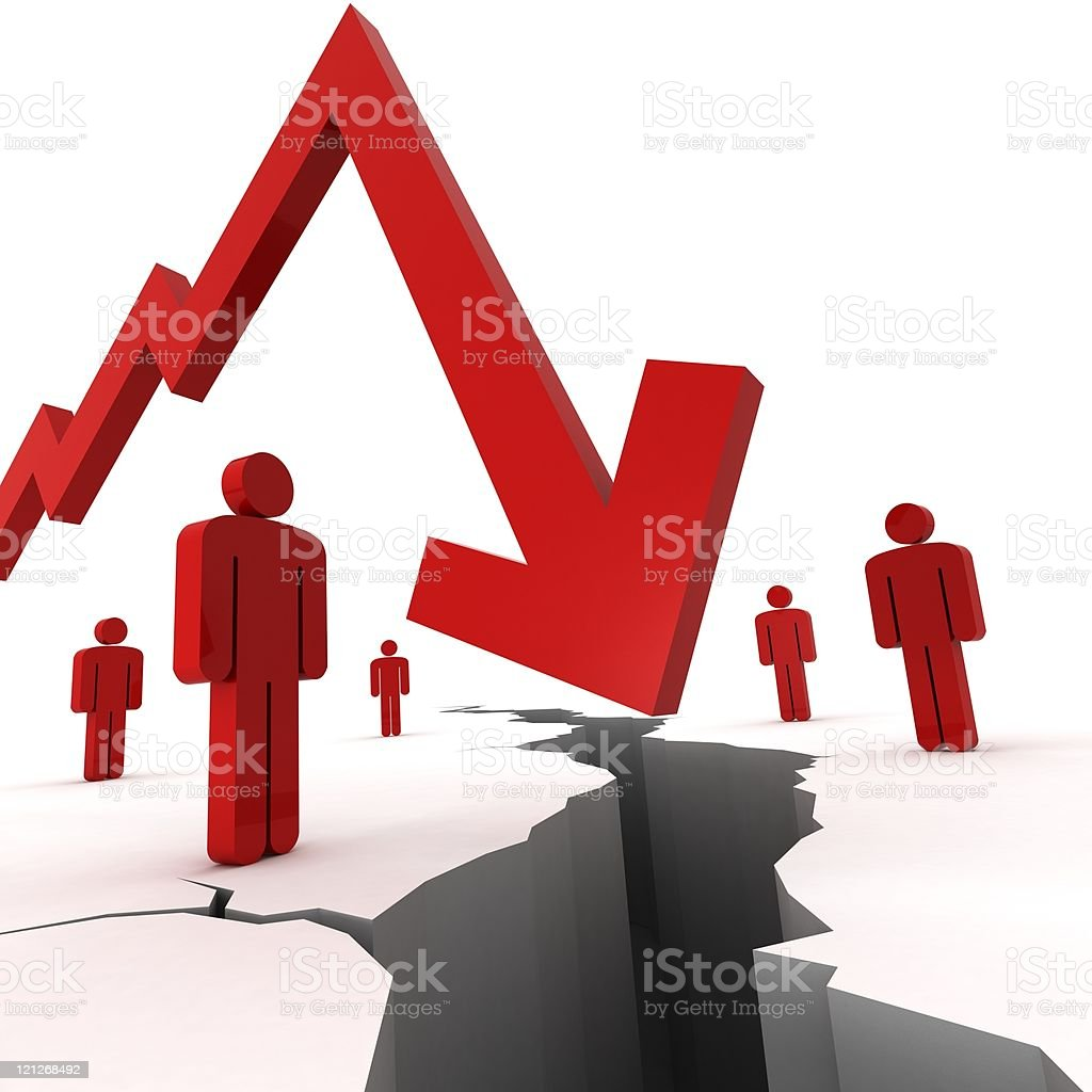 Recession Crisis royalty-free stock photo