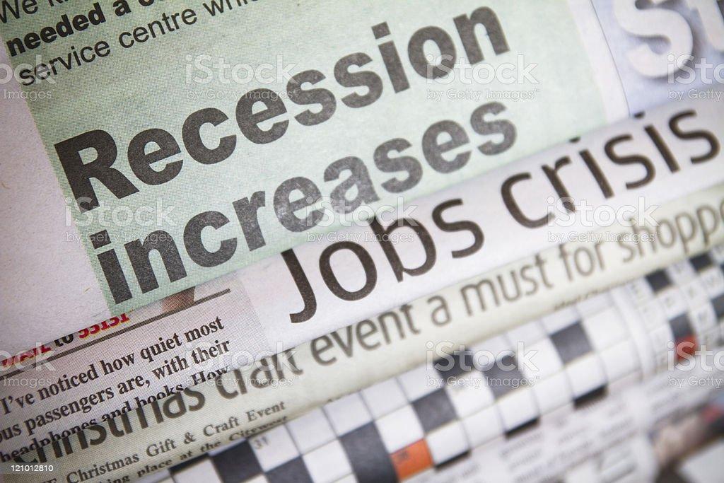 Recession & jobs crisis royalty-free stock photo