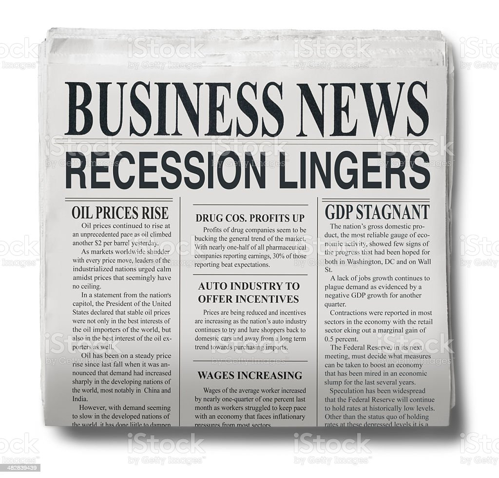 Recession Lingers stock photo