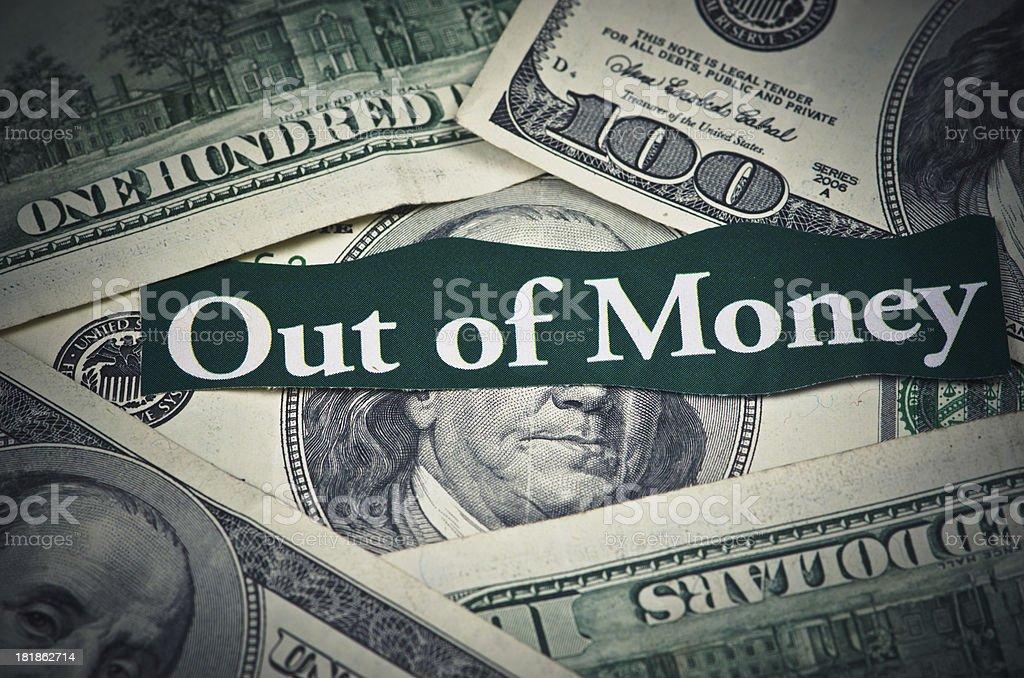 Recession Money Debt royalty-free stock photo
