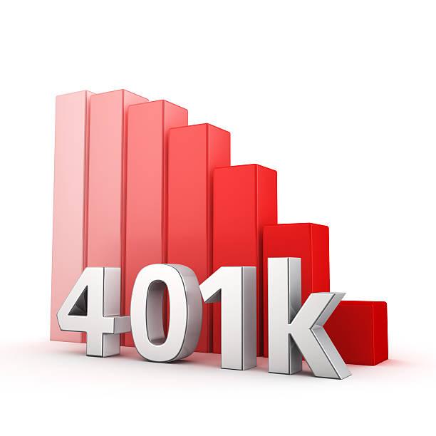 rezession von 401 k-englischer begriff - k projekt stock-fotos und bilder