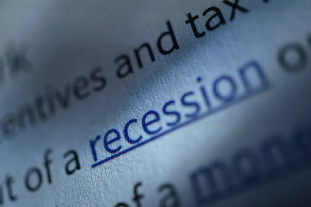Recession shot of word recession monetary policy stock pictures, royalty-free photos & images
