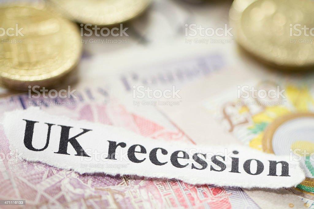 UK recession royalty-free stock photo