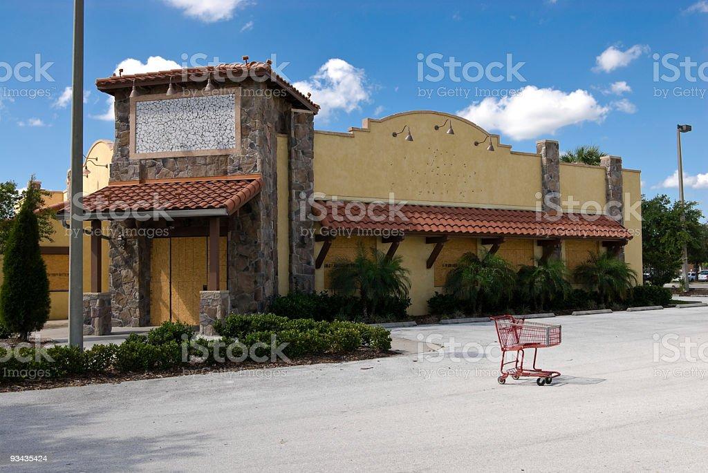 Recession - Restaurant stock photo