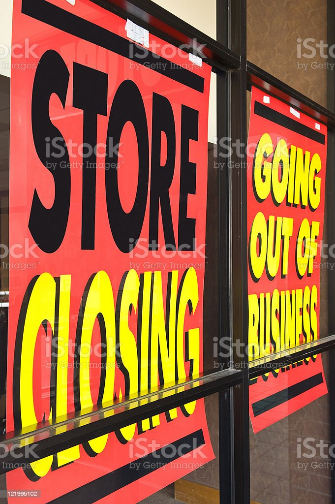 Recession Signs stock photo