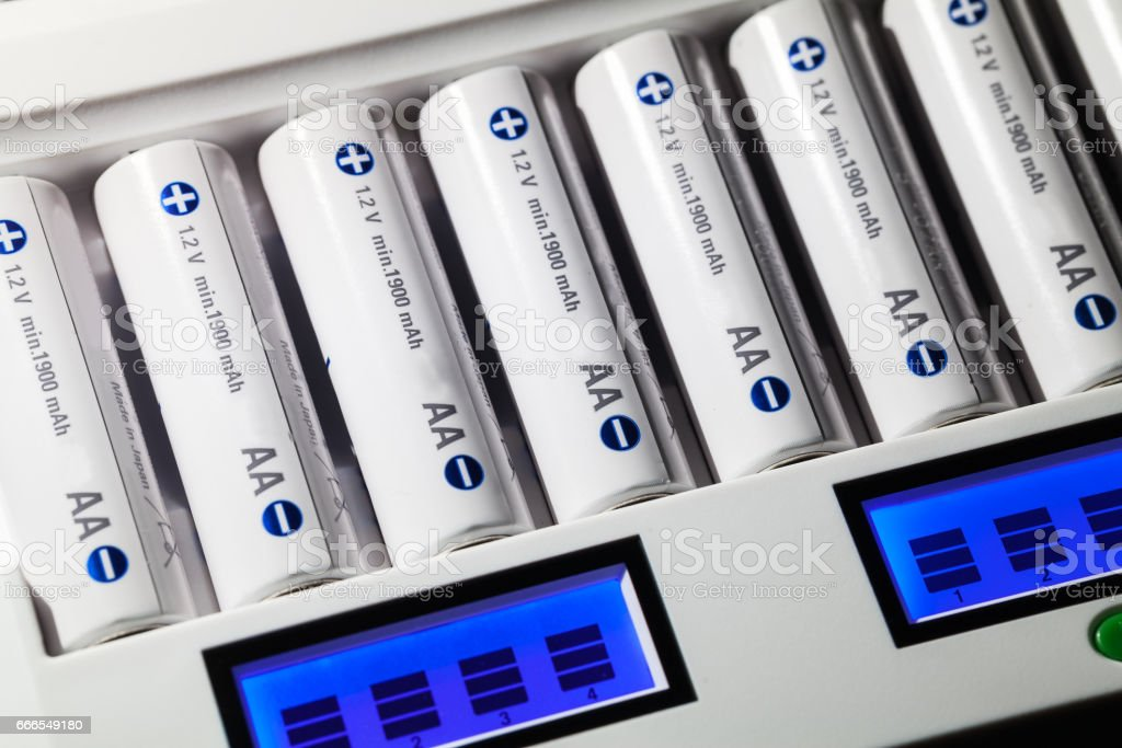 Rechargable Batteries stock photo
