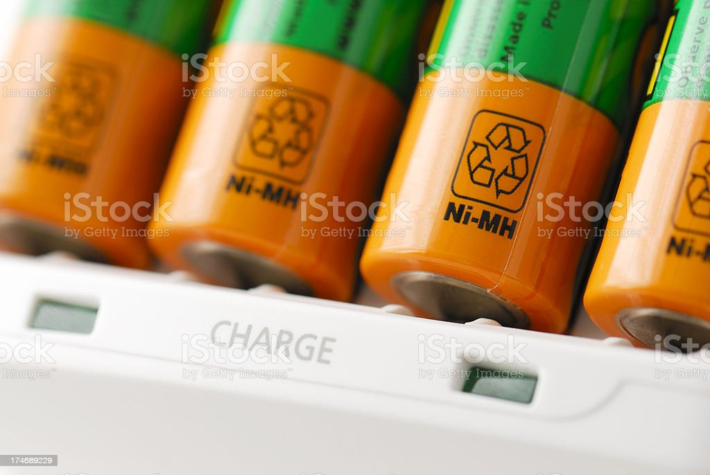 Rechargeable NiMH Batteries stock photo