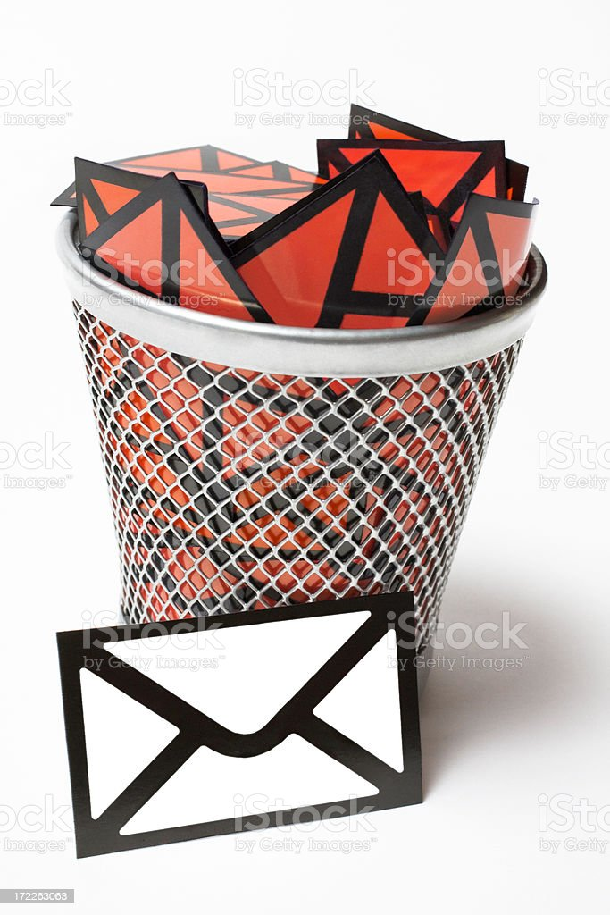 Recieve the rigth email not spam royalty-free stock photo