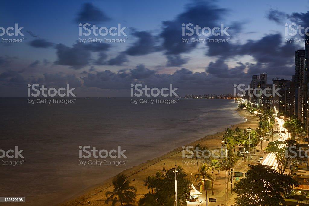 Recife and Boa Viagem beach royalty-free stock photo
