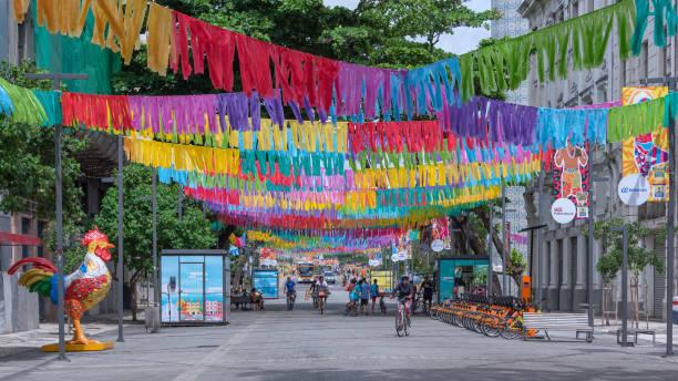 Recife Stadt für den Karneval 2019 dekoriert – Foto