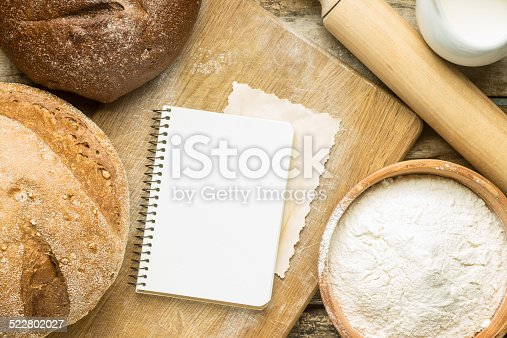 istock Recipe and menu background. 522802027