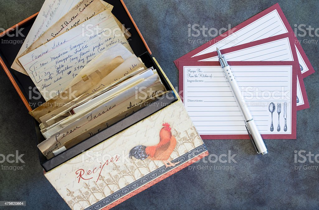 Recipe box recipe cards vintage recipes stock photo more pictures cooking food meal pen 2015 recipe box recipe cards vintage forumfinder Gallery