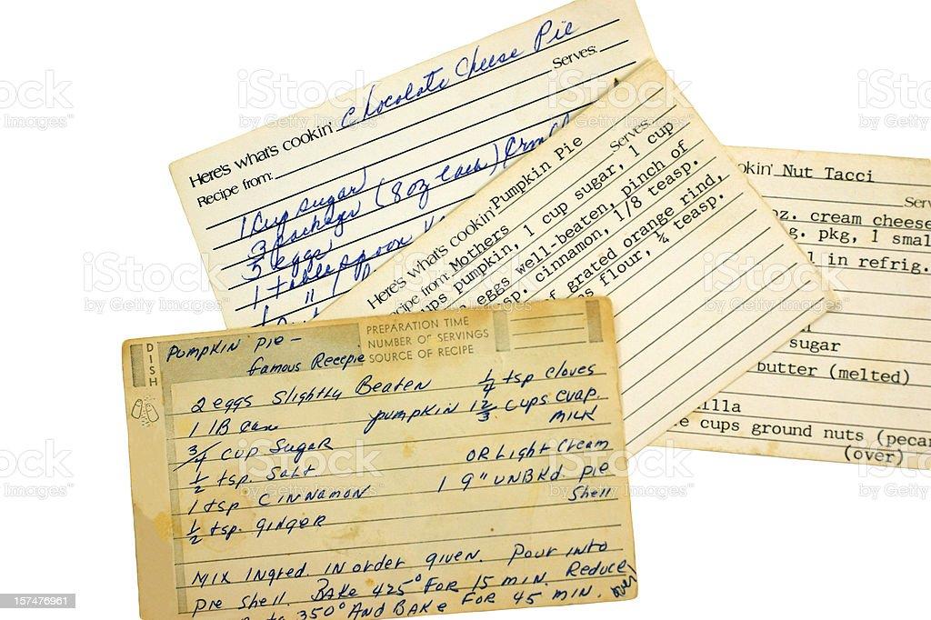Recipe Cards royalty-free stock photo