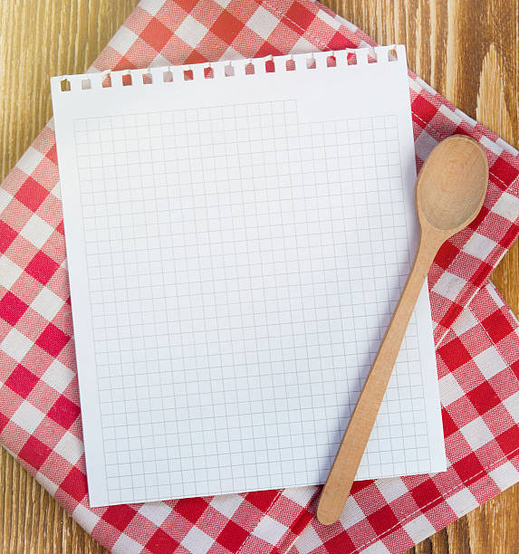 recipe clean paper page for notes. - 食譜 個照片及圖片檔