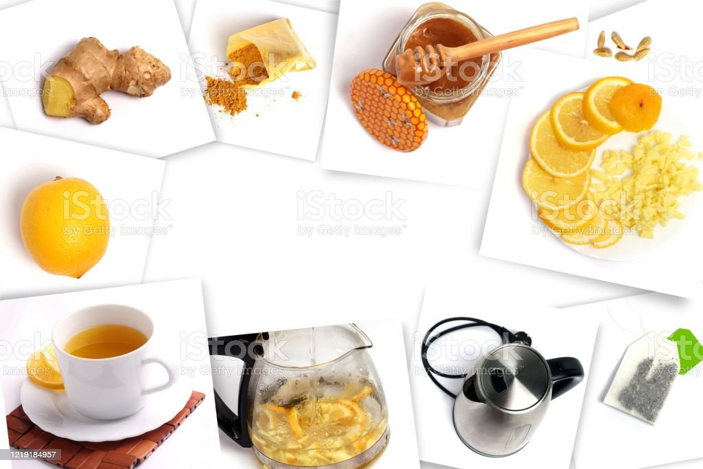 Recipe For A Detox Cocktail With Lemon Ginger Honey And Turmeric Recipe For A Drink To Increase Immunity Drink For Weight Loss Fruit Cocktail For A Healthy Lifestyle Stock Photo Download