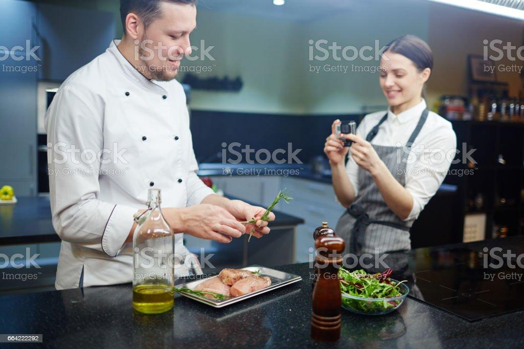 Recipe for blog stock photo