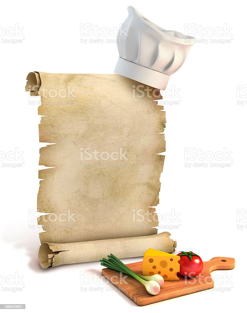 recipes 3d concept stock photo