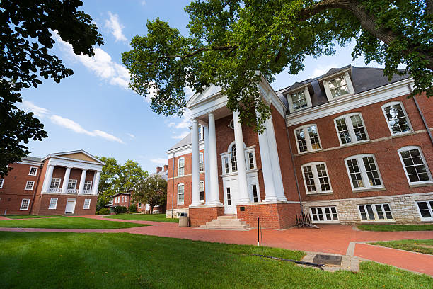 Recitation Hall at the University of Delaware in Newark stock photo