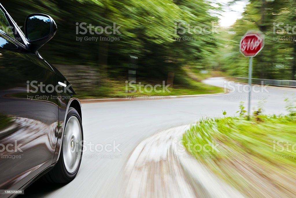 Reckless driving stock photo
