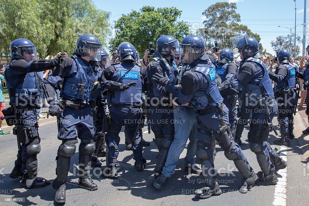 Reclaim Australia Rally Melton stock photo