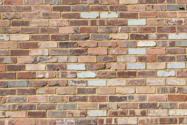 Reclaimed Brick Wall Background Vintage Industrial Copyspace stock photo