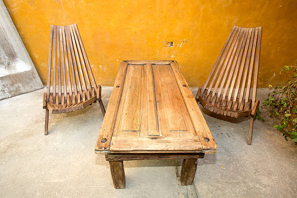 reclaimed material furniture stock photo
