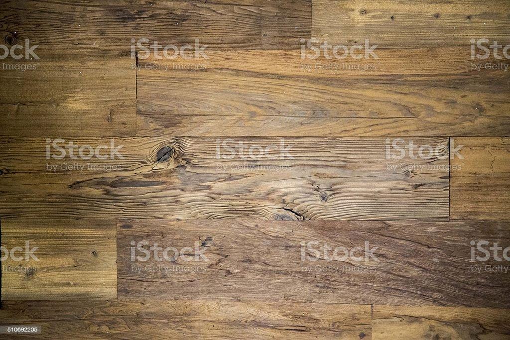 Reclaimed Mushroom Barn Wood Wall Covering stock photo