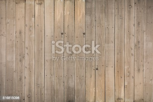 Reclaimed wood planks with water stains and nail holes.