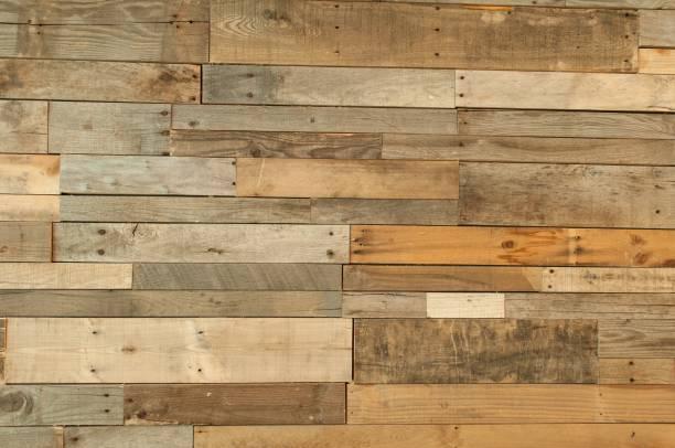 récupéré de texture de sol en bois - mur bois photos et images de collection