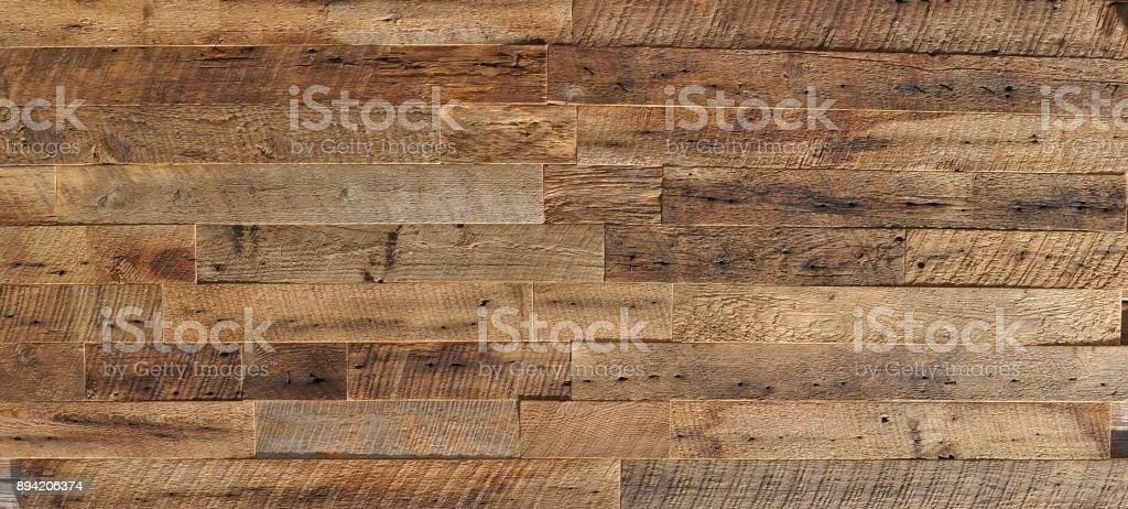 Wandverkleidung Holzstruktur wiedergewonnen - Lizenzfrei Abstrakt Stock-Foto