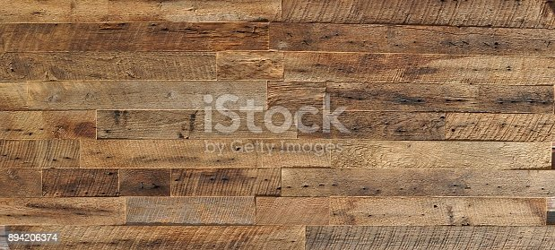 istock reclaimed wood Wall Paneling texture 894206374