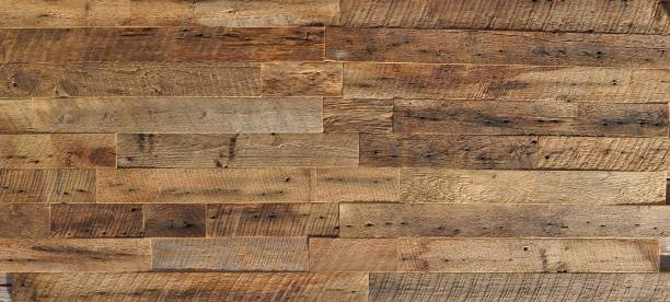 reclaimed wood Wall Paneling texture - foto stock